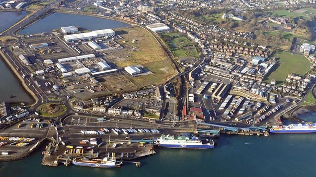 P Amp O Ferries Larne Port Site Lighting Facility Caldwell